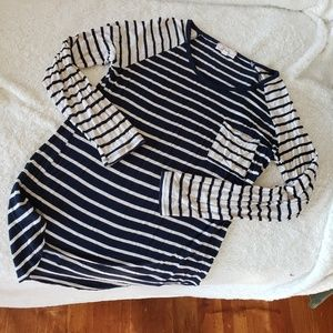 Striped LS shirt with pocket